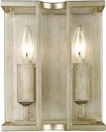 Golden Lighting 7151-WSC-WG Bellare Contemporary White Gold Wall Light Sconce