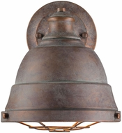 Golden Lighting 7312-1W-CP Bartlett Nautical Copper Patina Wall Lighting