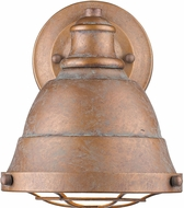 Golden Lighting 7312-BA1-CP Bartlett Retro Copper Patina Lighting Wall Sconce