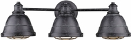 Golden Lighting 7312-BA3-BP Bartlett Retro Black Patina 3-Light Bath Lighting Fixture