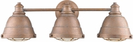 Golden Lighting 7312-BA3-CP Bartlett Vintage Copper Patina 3-Light Bathroom Light Fixture