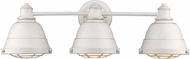Golden Lighting 7312-BA3-FW Bartlett Retro French White 3-Light Bathroom Vanity Lighting