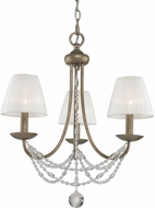 Golden Lighting 7644-M3-GA-PCS Mirabella Golden Aura Mini Hanging Chandelier