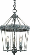 Golden Lighting 7856-3P-VP Ferris Traditional Blue Verde Patina Entryway Light Fixture