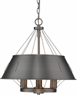 Golden Lighting 7917-3P-AS Whitaker Contemporary Aged Steel 18  Pendant Lighting Fixture