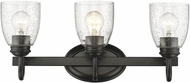 Golden Lighting 8001-BA3-BLK-SD Parrish Black 3-Light Bath Lighting