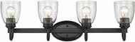 Golden Lighting 8001-BA4-BLK-SD Parrish Black 4-Light Bathroom Light