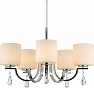 Golden Lighting 8037-5-CH-OP Evette Chrome Chandelier Light