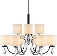 Golden Lighting 8037-9-CH-OP Evette Chrome Ceiling Chandelier