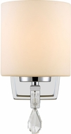 Golden Lighting 8037-BA1-CH-OP Evette Chrome Lamp Sconce