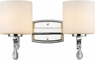 Golden Lighting 8037-BA2-CH-OP Evette Chrome 2-Light Bathroom Lighting Fixture
