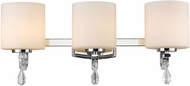 Golden Lighting 8037-BA3-CH-OP Evette Chrome 3-Light Vanity Lighting