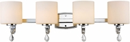 Golden Lighting 8037-BA4-CH-OP Evette Chrome 4-Light Vanity Light