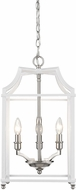 Golden Lighting 8401-3P-PW-WH Leighton PW Pewter 12  Foyer Lighting Fixture