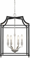 Golden Lighting 8401-4P-PW-BLK Leighton PW Pewter 16.75  Foyer Lighting
