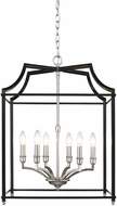 Golden Lighting 8401-6P-PW-BLK Leighton PW Pewter 20.5  Entryway Light Fixture