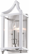 Golden Lighting 8401-WSC-PW-WH Leighton PW Pewter Light Sconce
