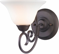 Golden Lighting 8606-BA1-RBZ-OP Homestead Rubbed Bronze Wall Sconce Lighting