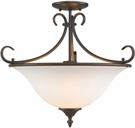 Golden Lighting 8606-SF-RBZ-OP Homestead Rubbed Bronze Overhead Lighting / Drop Lighting Fixture