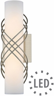 Golden Lighting 9116-B14-PW-OP Juliette Modern Pewter LED 14  Bathroom Wall Sconce