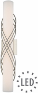 Golden Lighting 9116-B24-PW-OP Juliette Modern Pewter LED 24  Bathroom Light Sconce