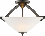 Golden Lighting 9363-SF-GMT-OP Presilla Gunmetal Bronze Flush Mount Ceiling Light Fixture / Lighting Pendant