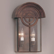Hi-Lite Manufacturing H-1070-B-CLR 14  Tall Outdoor Wall Sconce