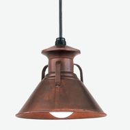 Hi-Lite Manufacturing H-12040-C Palm Bay 7  Tall Mini Hanging Pendant Light