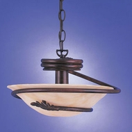 Hi-Lite Manufacturing H-128166-D-77-HI Country Rosewood Finish 14  Wide Drop Ceiling Lighting