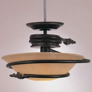Hi-Lite Manufacturing H-128167-SF-77-HI Rustic Rosewood Finish 12  Tall Ceiling Light Pendant