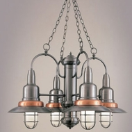 Hi-Lite Manufacturing H-1354-D Harbor Nautical 24  Tall Chandelier Light