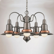 Hi-Lite Manufacturing H-1385-D Wagon Wheel 16  Tall Chandelier Lighting