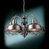 Hi-Lite Manufacturing H-15108-5D-WWGR Palm Bay 25  Wide Hanging Chandelier