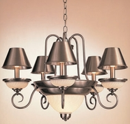 Hi-Lite Manufacturing H-1995-D-SHADES Hamilton 28  Wide Lighting Chandelier