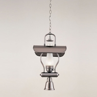 Hi-Lite Manufacturing H-1X-D-11-WDL-FR Tavern Satin Steel Finish 23  Tall Mini Hanging Lamp