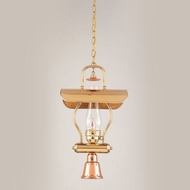 Hi-Lite Manufacturing H-1X-D-41-WDL-CLR Tavern Polished Brass/Polished Copper Finish 11  Wide Mini Hanging Light