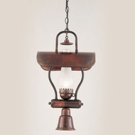 Hi-Lite Manufacturing H-1X-D-77-WDL-FR Tavern Rosewood Finish 11  Wide Mini Pendant Light Fixture