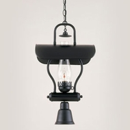 Hi-Lite Manufacturing H-1X-D-91-WDL-CLR Tavern Black Finish 23  Tall Mini Pendant Lighting Fixture