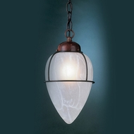 Hi-Lite Manufacturing H-2025-D-WGR 13  Tall Mini Hanging Light Fixture