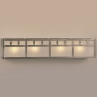 Hi-Lite Manufacturing H-255-4B Craftsman 28  Wide 4-Light Bathroom Vanity Light Fixture