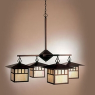 Hi-Lite Manufacturing H-260-4D Craftsman 41  Wide Chandelier Light