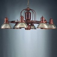 Hi-Lite Manufacturing H-268-D-RIB Wagon Wheel 45  Wide Chandelier Light
