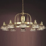 Hi-Lite Manufacturing H-270-D-RIB Wagon Wheel 29  Tall Ceiling Chandelier