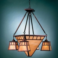Hi-Lite Manufacturing H-2864-D Craftsman 29  Tall Chandelier Lighting