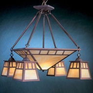 Hi-Lite Manufacturing H-2874-D Craftsman 20  Tall Lighting Chandelier