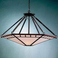 Hi-Lite Manufacturing H-2890-D Craftsman 17  Wide Chandelier Lamp