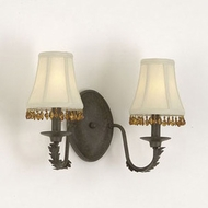 Hi-Lite Manufacturing H-2980-2B Brentwood 11  Tall 2-Light Bathroom Light Sconce