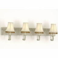 Hi-Lite Manufacturing H-2980-4B Brentwood 11  Tall 4-Light Bathroom Sconce Lighting