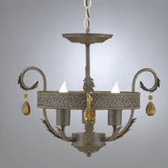 Hi-Lite Manufacturing H-2982-SF Brentwood 15  Wide Mini Ceiling Chandelier