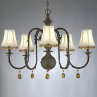 Hi-Lite Manufacturing H-2995-D Brentwood 20  Tall Lighting Chandelier